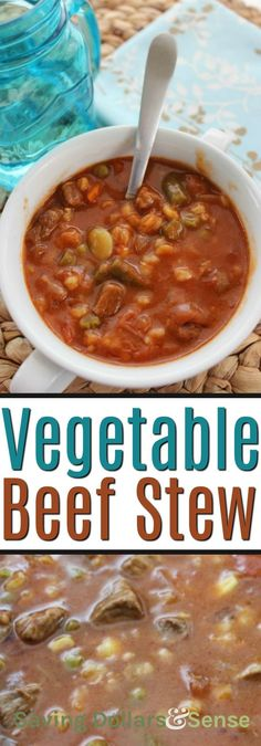This is THE BEST Slow Cooker Vegetable Beef Soup recipe, and makes the perfect comfort food recipe for those cooler fall days! Easy Vegetable Beef Soup, Veggie Soup, Vegetable Recipes, Beef Soup Recipes, Chowder Recipes, Slow Cooker Recipes, Crockpot, Healthy Dinner Recipes, Fall Recipes