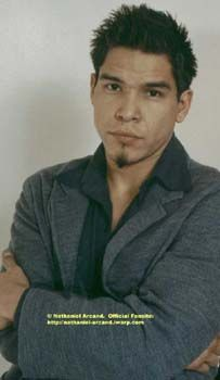 Actor Nathaniel Arcand is Plains Cree (Nehiyaw), from the Alexander First Nation Reserve. He was born and raised in Edmonton, Alberta, Canada.