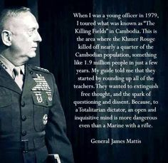 The Global Elite Marine Quotes, Military Quotes, James Mattis Quotes, General James Mattis, Mcrd San Diego, Favorite Quotes, Best Quotes, Malcolm X, Political Memes