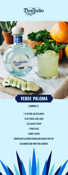 Don Julio Tequila Brunch with Verde Palomas – Vitamins And Minerals Chart – Don Julio Tequila Brunch mit Verde Palomas – Vitamine und Mineralien – Tequila, Vodka, Drinks Alcohol Recipes, Yummy Drinks, Mix Drinks, Wine Recipes, Easy Recipes, Mineral Chart, Grolet