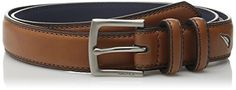 Nautica Big Boys Double Loop Belt with Stitch Detail, Tan, 26 -- Click here for more details @