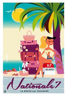 Travel infographic Monsieur Z More www. Vintage Beach Posters, Art Et Design, Pub Vintage, Tourism Poster, Ad Art, Arte Pop, Pin Up Art, Art Deco Fashion, Vintage Images