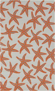 Starfish rug from Surya's Rain collection (RAI1136-58) Love this indoor /outdoor