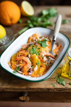 Yummy Food, Tasty, Fish And Seafood, Food Dishes, Salad Recipes, Entrees, Carpaccio, Food And Drink, Cooking Recipes