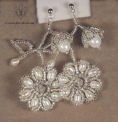 earrings Frozen beauty . Fleur de Irk - E775