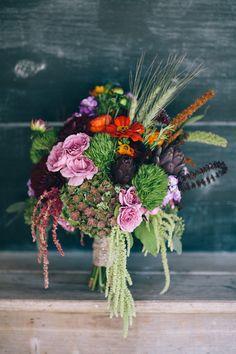 fall wedding bouquet ideas  #bridalbouquet #weddingflowers #farmwedding http://www.weddingchicks.com/2013/12/20/illinois-fall-wedding/
