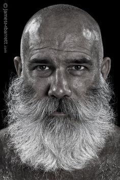 By James M Barrett Photography Beard And Mustache Styles, Best Beard Styles, Beard No Mustache, Hair And Beard Styles, Bald Men With Beards, Bald With Beard, Grey Beards, Badass Beard, Epic Beard