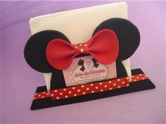 <center>Porta guardanapo/Porta cartão tema Minnie</center> | Montando minha festa