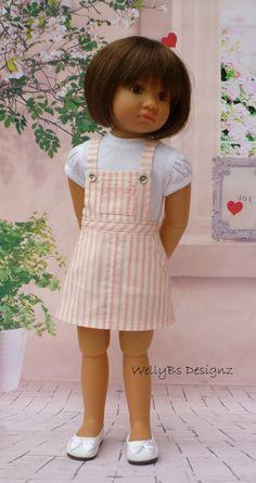 Pink Stripe Bib n Brace Skirt for Kidz n Cats Dolls by WellyBs on Etsy https://www.etsy.com/listing/245071463/pink-stripe-bib-n-brace-skirt-for-kidz-n
