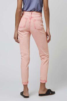 MOTO Pink Acid Mom Jeans