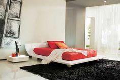 Una cama con diseño algo diferente