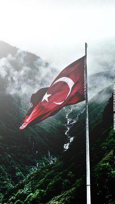 Turkish Flag wallpaper by kadlera - 14 - Free on ZEDGE™ 3d Wallpaper, Galaxy Wallpaper, Turkey Drawing, Turkey Flag, Turkey Wings, Turkey Country, Capadocia, Turkish Army, Ottoman Empire