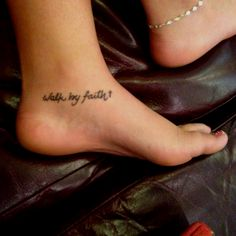 "I'll probably have mine say ""Leave your mark by walking in faith"" <3"