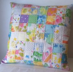 Vintage sheet patchwork, I truly have fifty or sixty fun vintage sheets to work with, I want to make tents, quilts, and now this too!
