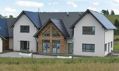 WeberHaus - Remote prefabricated property with a built-in pool, situated in rural Scotland Bungalow Exterior, Bungalow Renovation, Dream House Exterior, Farmhouse Architecture, Modern Farmhouse Exterior, Classical Architecture, House Plans Uk, Prefabricated Houses, Prefab Homes Uk