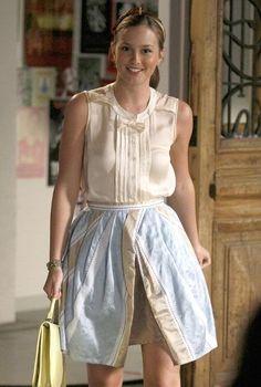 Dice Kayek blouse.  Anna Sui skirt (modified for the show).  Susan Daniels headband.