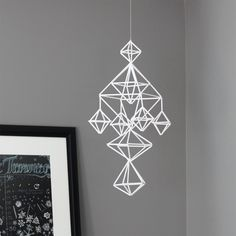 himmeli no. 6 / hanging mobile / modern geometric sculpture. $79.00, via Etsy.