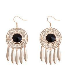 Art Deco Disc Earrings