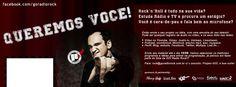 """Participe, divulgue a Promo """"Queremos você!"""" da GO! Radio Rock - the future of Rock´n´Roll - troque a capa do seu facebook e ajude a divulgar!"""