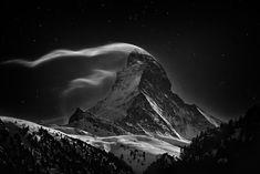 The Matterhorn at night.  Photo by Nenad Saljic.