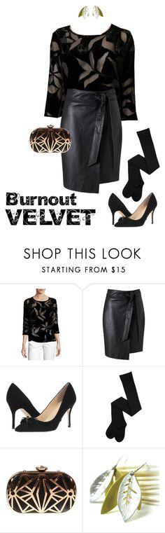 """Burnout Velvet & Leather"" by jillsjoyagol ❤ liked on Polyvore featuring Miss Selfridge, Ivanka Trump and velvet"
