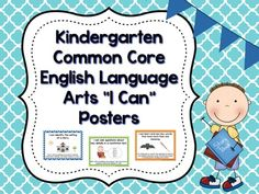 "Common Core ELA Standards written as ""I Can"" statements on colorful posters!"
