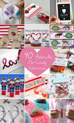 40 Adorable No-Candy Valentines | Camp Makery