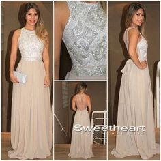 Modest prom dress, unique champagne sequin long prom dress for teens, backless prom dress 2016, classy long evening dresses