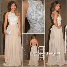 Modest prom dress, unique champagne sequin long prom dress for teens, backless prom dress 2016, classy long evening dresses