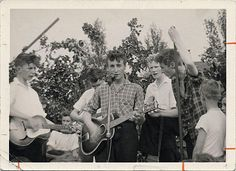 6 July 1957 Leader of The Quarrymen @JohnLennon meets @PaulMcCartney at Woolton Parish Church Garden Fete