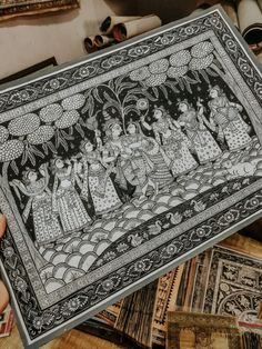 The post takes you to the craft village of Odisha, Raghurajpur and explores Pattachitra and Tal Patra. Also a quick visit to Pipili to see Applique work. Kerala Mural Painting, Indian Art Paintings, Abstract Paintings, Oil Paintings, Mandala Art Lesson, Mandala Artwork, Madhubani Art, Madhubani Painting, Phad Painting