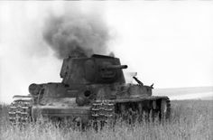 SEP 16 1942 The Battle for Voronezh continues Burning Soviet KV1 tank on the front near Voronezh