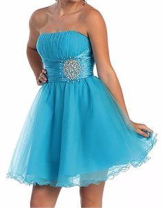 Blue Short Party Dress Short Prom Dress Bridesmaid Dress Prom Dress with Beading