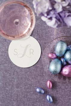 Personalized Coasters, Custom Coasters, Foil Stamping, Design Show, Ink Color, Letterpress, Easter Eggs, Recycling, Monogram