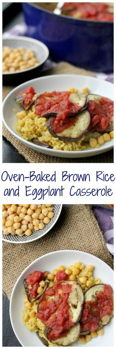 Whether eaten as a side dish or a vegetarian meal, this oven-baked brown rice and eggplant casserole is full of fresh flavors that won't fail to please.