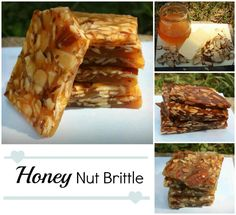 Honey Nut Brittle Candy - Super easy! #paleo -- Made this last night! Super good!!!!!! If you don't have a candy thermometer make sure to do the cold water test for crack stage. Worked like a charm and curbed the horrible sweet cravings last night. Tons of modifications can be done to this recipe!!