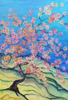 Árvore oriental I - Acrílica s/tela - 60 x 40 - 2015