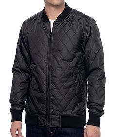 Give yourself a fashionable layered look with the sleek KR3W Bowery Black Quilted Bomber Jacket. KR3W had given this garment an all around regular fit with a polyester quilted construction throughout the shell complimented with a lightweight nylon lining.