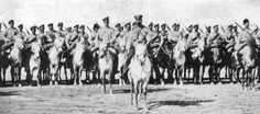 Russian Cossacks pose early in the war