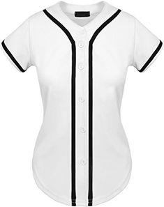 254a8274bc14df UP Womens Baseball Button Down Tee Short Sleeve Softball Jersey Active T  Shirts - Best Softball Bats + Baseball Bats   Gloves Slowpitch Softball  Helmets ...