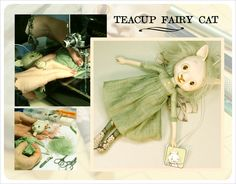 ~We started a new series of smaller dolls called, 'Teacup Fairies' ! So far we've made lots of dragonfly girls, fairies, a pig, a mermaid, a deer, a gloomy unicorn and a candy Troll. We love making them and seeing their little personalities come to Life.