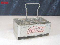 VINTAGE COCA COLA SODA FOUNTAIN DRINK METAL COKE CARRIER CADDY ADVERTISING RARE #CocaCola!!!!!!  ON AUCTION THIS WEEK!!!!!