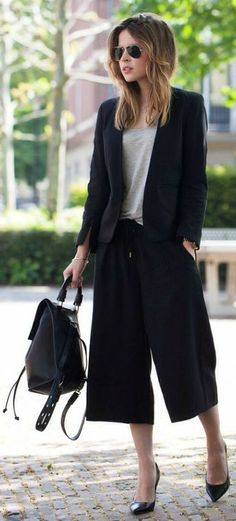 Black  Inspiration Culottes by LadyAddict