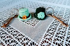Crochet Gifts, Hand Crochet, Sea Green Color, Leprechaun Hats, Emerald Color, Green Hats, Christmas Hat, St Patricks Day, Gifts For Him