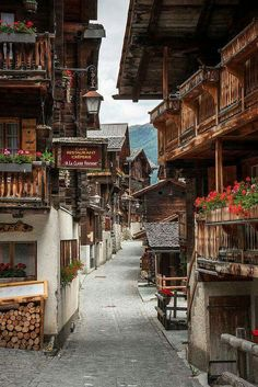 Grimentz Old Town, Val d'Anniviers, Switzerland. Grimentz Old Town, Val d'Anniviers, Switzerland Places In Europe, Places Around The World, Oh The Places You'll Go, Travel Around The World, Places To Travel, Places To Visit, Around The Worlds, Wonderful Places, Beautiful Places