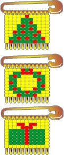 Beaded Safety Pin Christmas Patterns