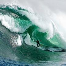 Surfing Shipstern Bluff, Tasmania, Australia, photo by Stuart Gibson of Ryan Hipwood in the big wave