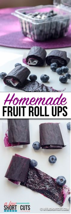 Super simple. Make your own Homemade Fruit Roll Ups for those lunch boxes with this easy recipe. Just fruit and a sweetener of your choice. That is it. No special equipment needed.