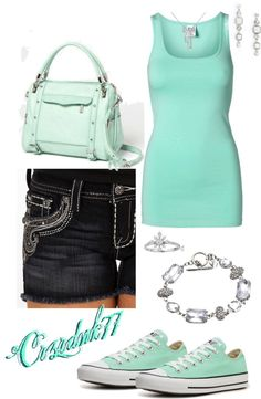 """""""Summer Mint"""" by crzrdnk77 on Polyvore"""