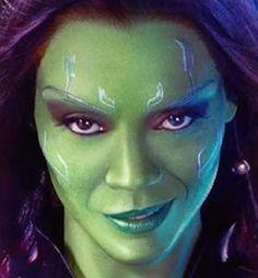 Gamora makeup